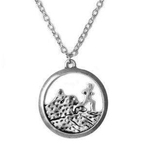 Trail Running Runner Silver Tone Necklace